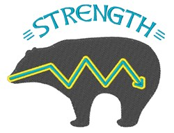 Strength Bear embroidery design