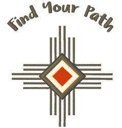Find Your Path embroidery design