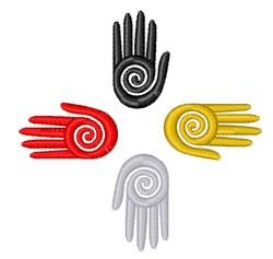 Medicine Wheel Hands embroidery design