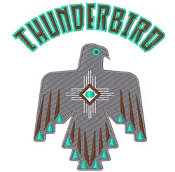 Thunderbird embroidery design