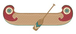 Native American Canoe embroidery design
