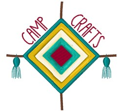 Camp Crafts embroidery design