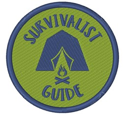 Survivalist Guide embroidery design