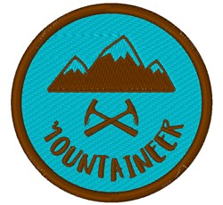 Mountaineer embroidery design
