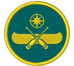 Canoe Badge embroidery design