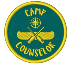 Camp Counselor embroidery design