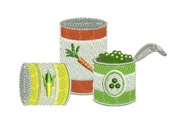 Canned Vegetables embroidery design