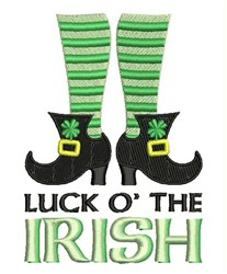 Luck O Irish embroidery design