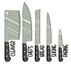 Chefs Knives embroidery design