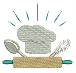 Chef Utensils embroidery design