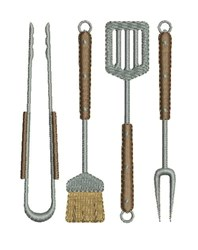 Grilling Tools embroidery design