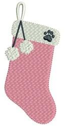 Dog Stocking embroidery design