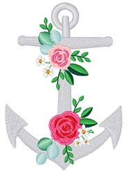 Floral Anchor embroidery design