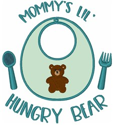 Mommys Lil Hungry Bear embroidery design