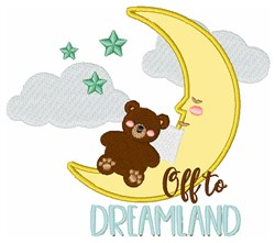 Off To Dreamland embroidery design