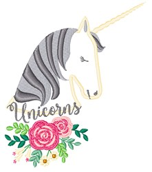 Unicorns embroidery design