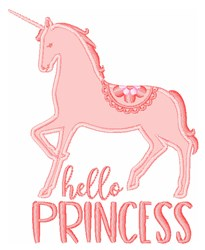 Hello Princess embroidery design