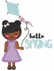 Hello Spring embroidery design