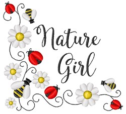Nature Girl embroidery design