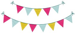 Pennant Banners embroidery design