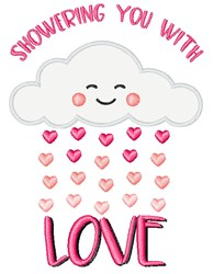 Showering You With Love embroidery design