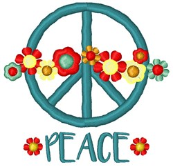 Peace Flowers embroidery design