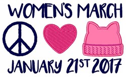 Womens March embroidery design
