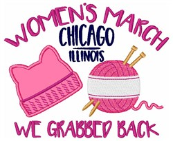 Womens March Chicago embroidery design