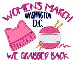 Womens March Washington embroidery design
