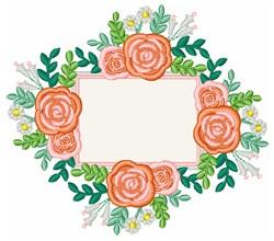 Rose Plaque embroidery design