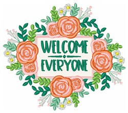 Welcome Everyone embroidery design