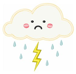 Sad Cloud embroidery design