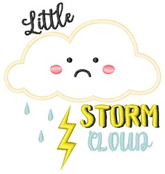 Little Storm Cloud embroidery design