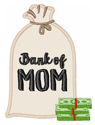 Bank Of Mom embroidery design