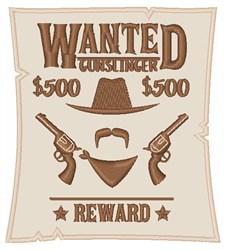Wanted Gunslinger embroidery design
