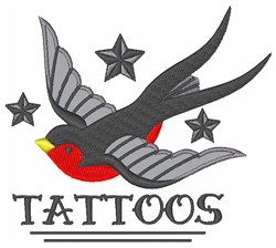 Tattoos embroidery design