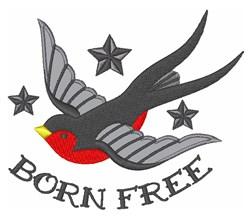 Born Free embroidery design
