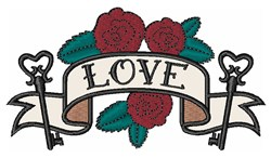 Love Banner embroidery design