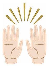 Praising Hands embroidery design