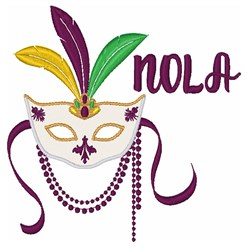 NOLA  Mask embroidery design