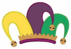 Mardi Gras Jester Hat embroidery design