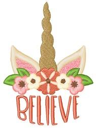 Unicorn Believe embroidery design