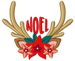 Noel Reindeer embroidery design