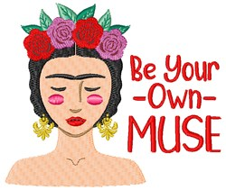 Be Your Own  Muse embroidery design