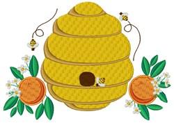 Orange Bee Hive embroidery design