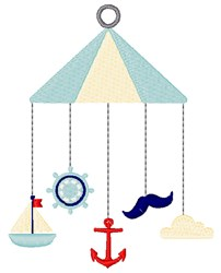 Nautical Baby Mobile embroidery design
