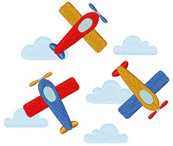Toy Airplanes embroidery design