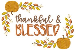 Thankfu &l Blessed embroidery design