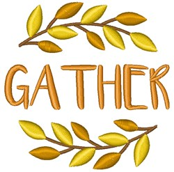 Fall Gather embroidery design