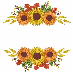 Fall Sunflowers embroidery design
